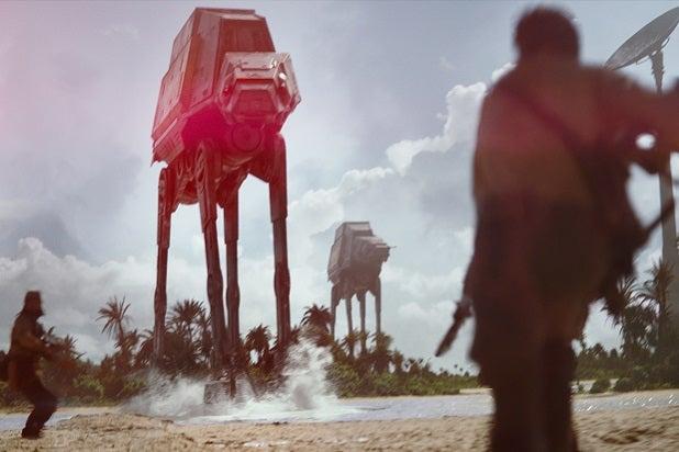 rogue one star wars walker battle