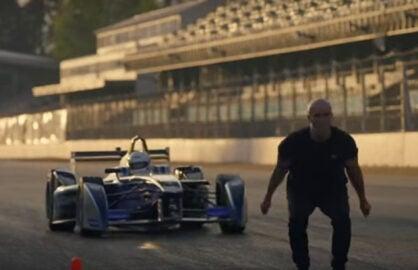 Formula 1 Jump skyfall stunt man