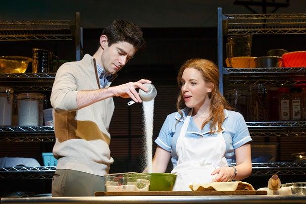 """Drew Gehling and Jessie Mueller in """"Waitress"""""""