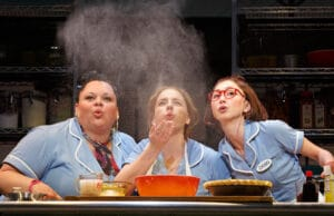 "Keala Settle, Jessie Mueller and Kimiko Glenn in ""Waitress"""