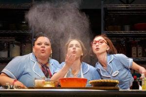 "Keala Settle, Jessie Mueller and Kimiko Glenn in ""Waitress"""