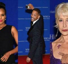 white house correspondents dinner red carpet split