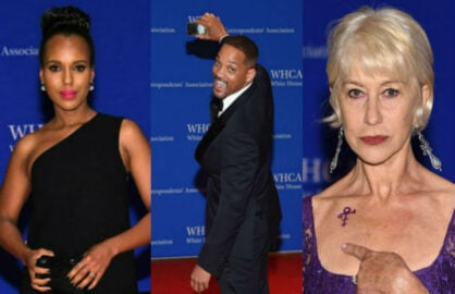 white house correspondents dinner red carpet split