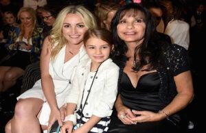 LAS VEGAS Jamie Lynn Spears Maddie Briann Aldridge Lynne Spears in the audience at the 2016 Billboard Music Awards