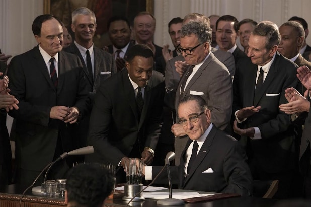 "Anthony Mackie and Bryan Cranston in ""All the Way"""