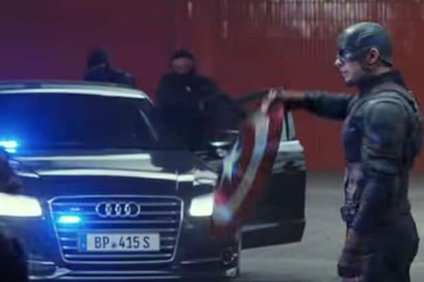 product placement kapitan ameryka wojna bohaterow
