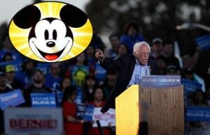 Bernie Sanders and Mickey Mouse