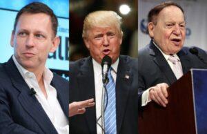 Peter Thiel Donald Trump Sheldon Adelson