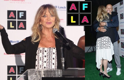 "Goldie Hawn and Russell Simmons pleaded for Arts Education in public schools at the first ""Art for Life"" LA event, a port of Simmons' longtime Hamptons fundraiser, on Tuesday night, May 3, 2016 in Beverly Hills. (Randy Shropshire/Getty Images for The Rush Philanthropic Art Foundation)"
