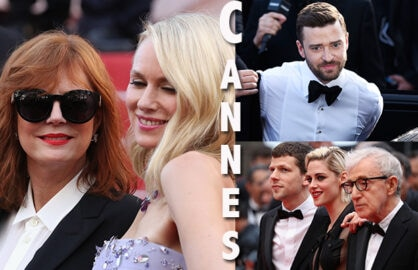 Susan Sarandon, Naomi Watts, Justin Timberlake, Jesse Eisenberg, Kristen Stewart, and Woody Allen open the 2016 Cannes Film Festival on May 11, 2016. (Getty Images)