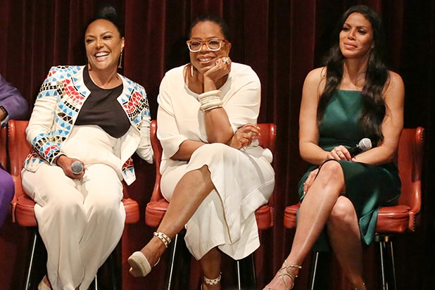 """Winfrey plays an estranged aunt in """"Greenleaf"""". She says she modeled her character after Maya Angelou, if Angelou owned a bar."""