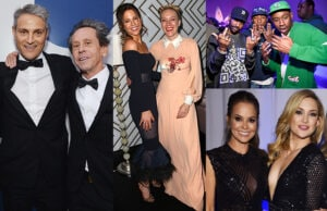 "Ari Emanuel, Brian Grazer, Kate Beckinsale, Pharrell Williams' ""Pink Beach"" and Kate Hudson top the party circuit in the third week of May, 2016. (Getty Images)"
