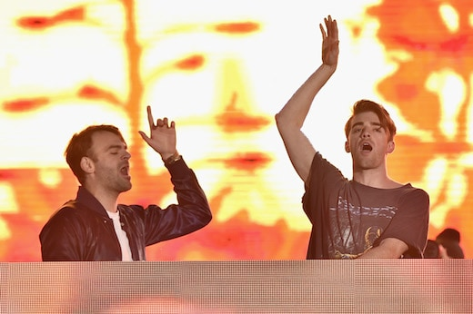 CARSON, CA - MAY 14: DJs Alex Pall (L) and Andrew Taggart of The Chainsmokers perform on stage at KIIS FM's Wango Tango 2016 at StubHub Center on May 14, 2016 in Carson, California. (Photo by Mike Windle/Getty Images)