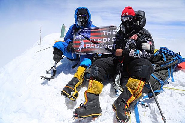 Charlie Linville Heroes Project Everest Summit