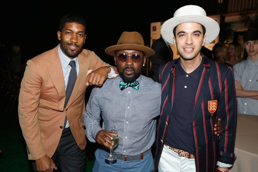 """""""LOS ANGELES, CA - MAY 03: (L-R) Musicians Fonzworth Bentley, O'Neal McKnight and DJ Cassidy attend Russell Simmons' Rush Philanthropic Arts Foundation's inaugural Art For Life Los Angeles at Private Residence on May 3, 2016 in Los Angeles, California. (Photo by Randy Shropshire/Getty Images for The Rush Philanthropic Art Foundation)"""""""