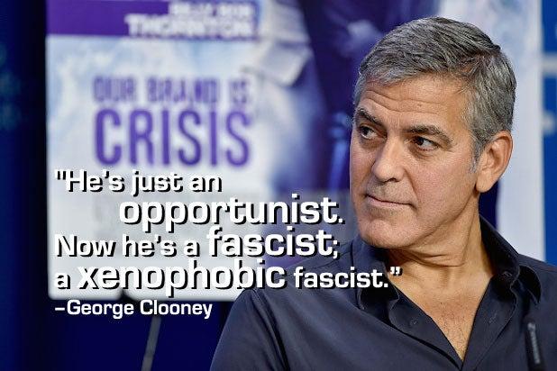 Trump Celebrities George Clooney