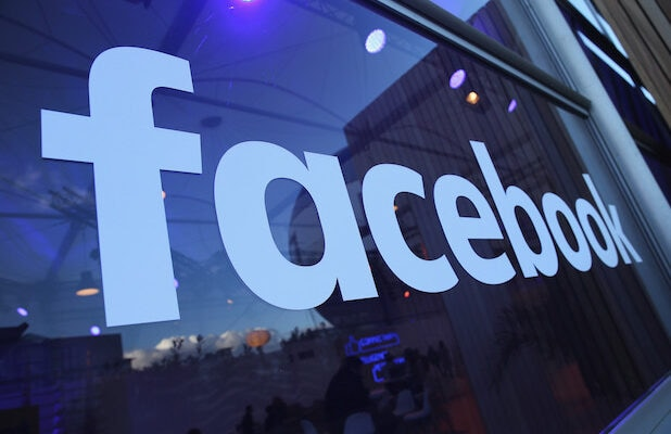 The Facebook logo is displayed