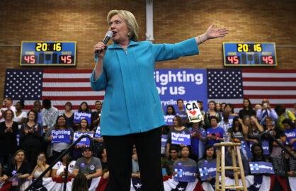 Hillary Clinton Mocks Proposed Sanders-Trump Debate: 'It's Not Gonna Happen' (Video)