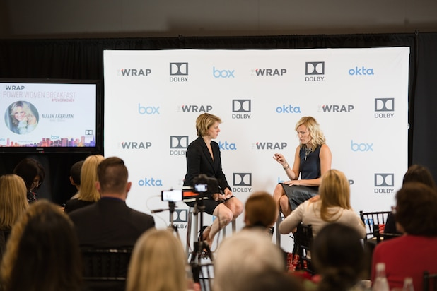 Malin Akerman Sharon Waxman at Power Women Breakfast SF