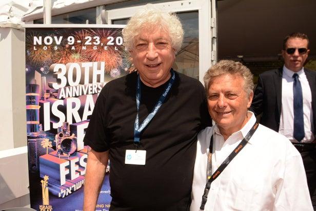 Israel Film Festival at Cannes Film Festival left Avi Lerner, right Meir Fenigstein