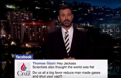 Jimmy Kimmel read negative comments
