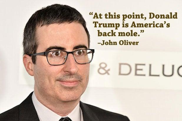 Trump Celebrities John Oliver