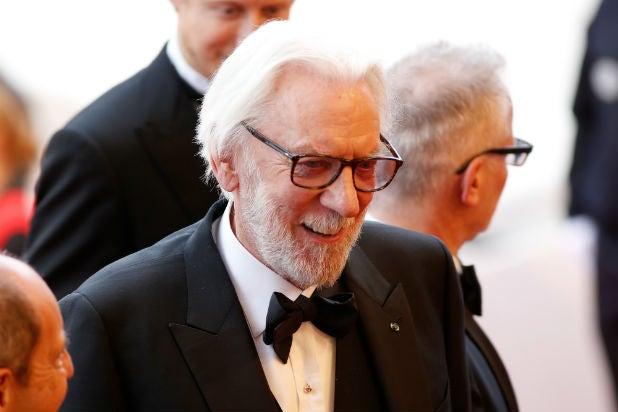 Donald Sutherland Cannes Film Festival