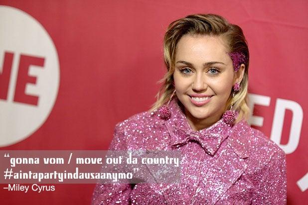 Trump Celebrities Miley Cyrus