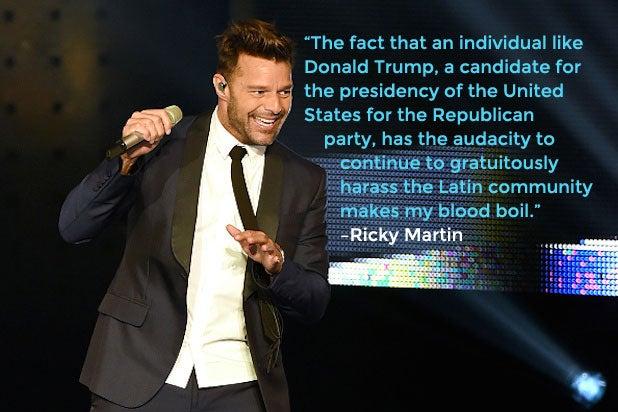 Trump Celebrities Ricky Martin