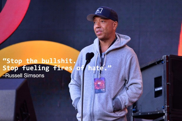 Trump Celebrities Russell Simmons