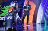 Russell Wilson and Mone Davis at Nickelodeon Kids Choice Sports