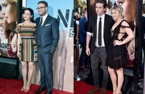Seth Rogen, Lauren Miller, Chloe Moritz and Brooklyn Beckham at Neighbors 2 premiere