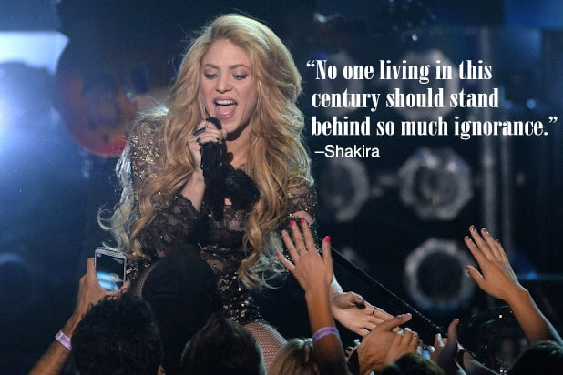 Trump Celebrities Shakira