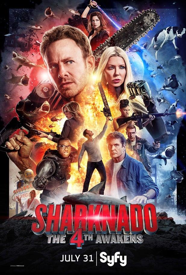 Sharknado The 4th Awakens Poster
