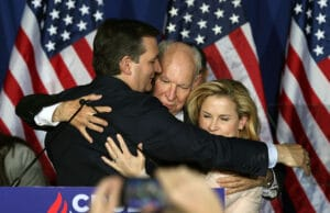 Ted Cruz, Heidi Cruz and Rafael Cruz