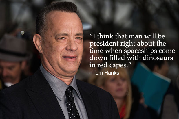 Trump Celebrities Tom Hanks