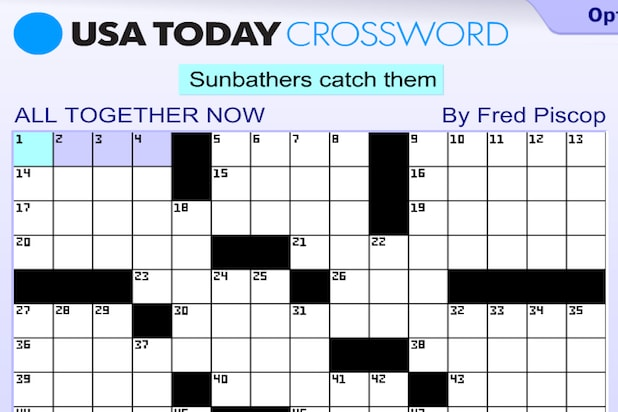 Exceptional image for usa today printable crossword