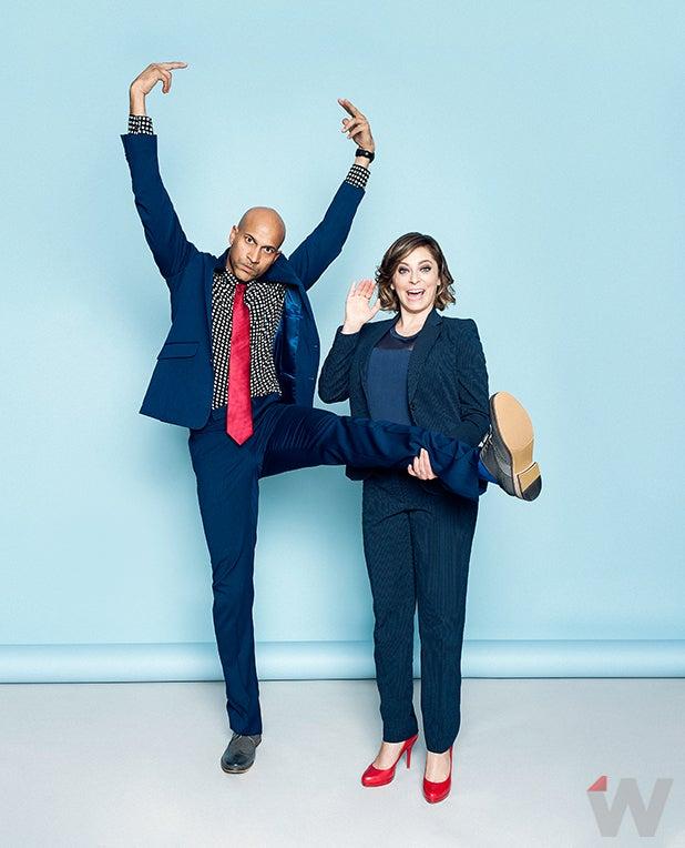 Keegan Michael Key and Rachel Bloom