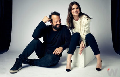 Steve Zissis and Amanda Peet