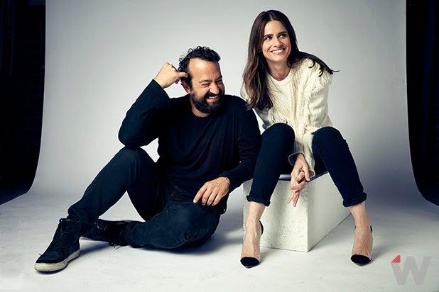 Steve Zissis and Amanda Peet