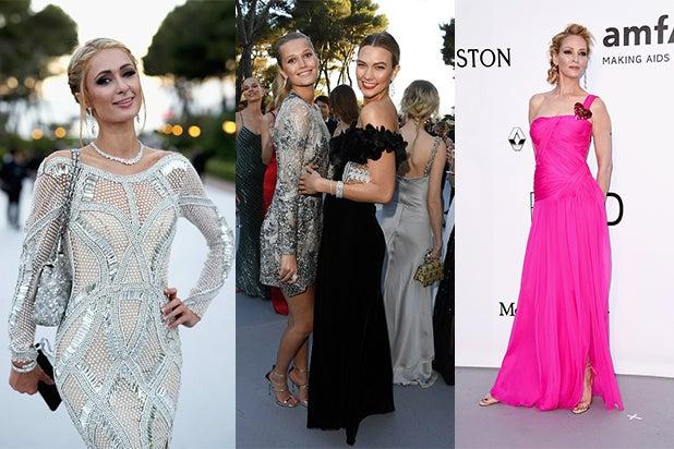 amfAR 2016 Paris Hilton Still on List Toni Garnn Karlie Kloss Uma Thurman