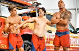 zac efron the rock baywatch super bowl trailer