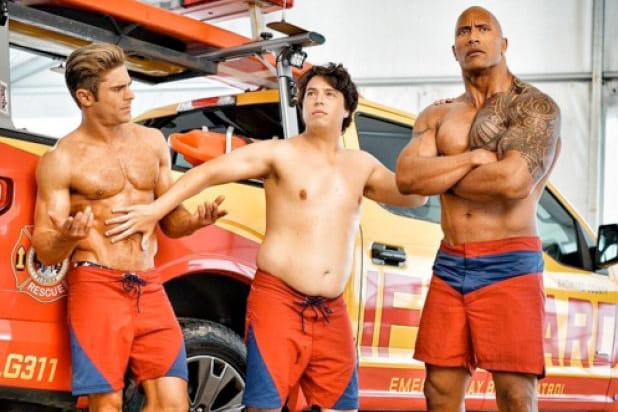 zac efron the rock baywatch