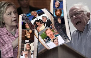 bernie sanders hillary clinton hollywood stars