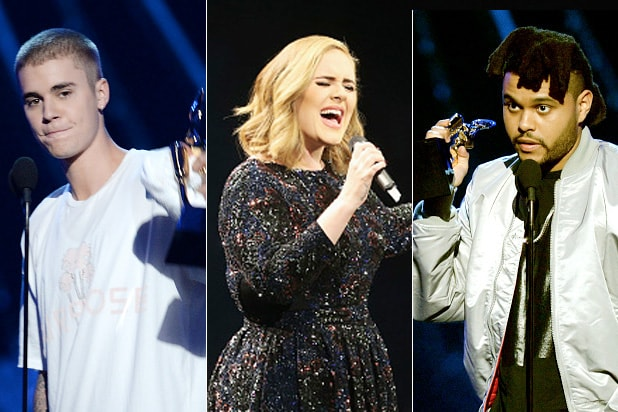 billboard music awards bieber adele weeknd