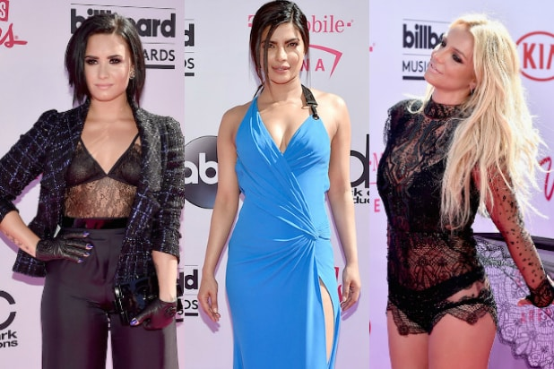 billboard tri britney spears demi lovato