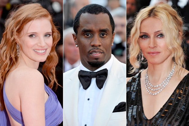 cannes moments chastain combs madonna