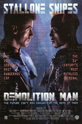 demolition man movie poster cliche