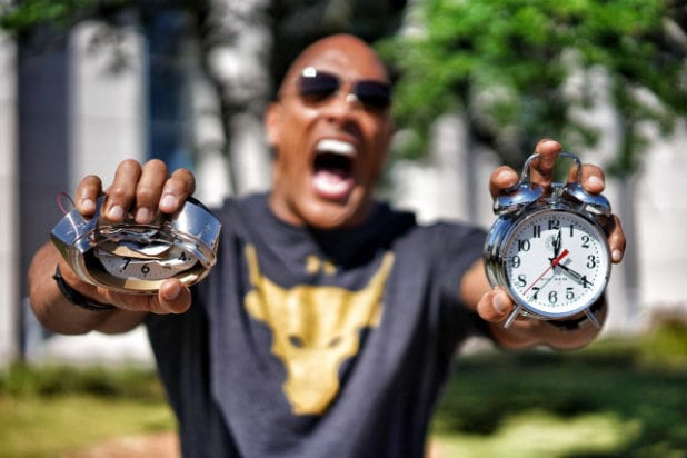 dwayne the rock johnson rock clock