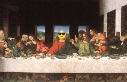 emoji bible last supper